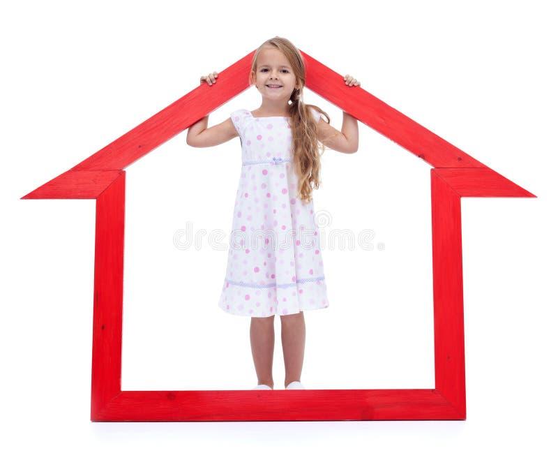 Dieses ist mein neues Haus stockbild
