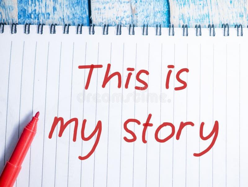 Dieses ist meine Geschichte, inspirierend Motivzitate lizenzfreies stockbild