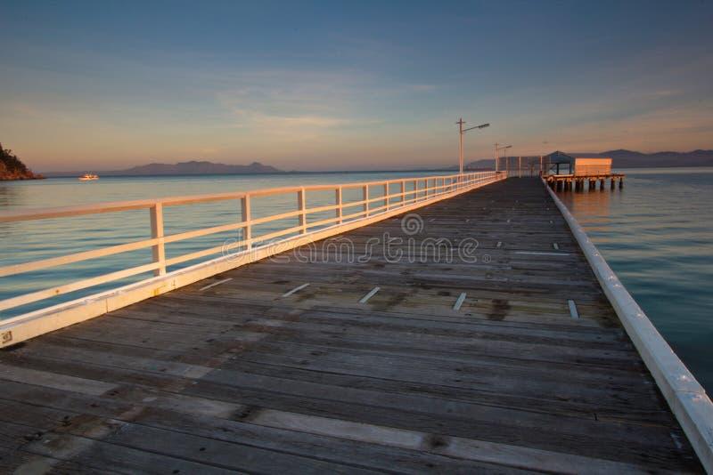 Magnetische Insel - Sonnenuntergang stockbild