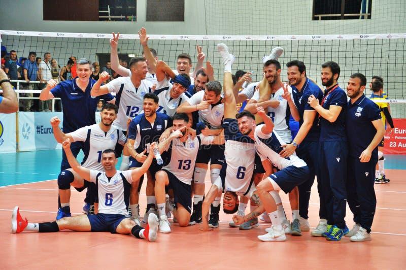 Dieses war wie der Spieler, der für griechisches Volleyballteam in Lukavac gespielt wurde lizenzfreie stockbilder