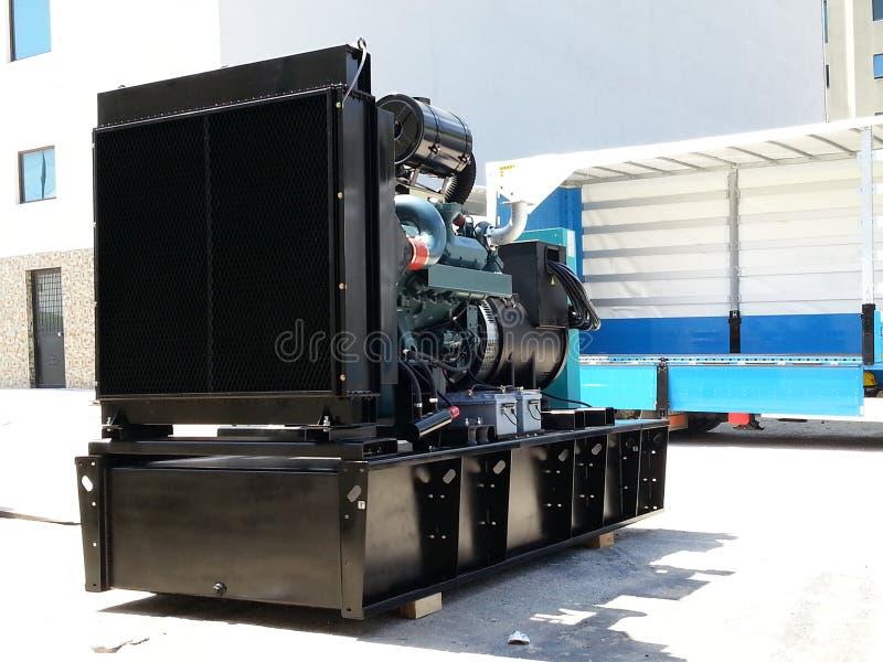 Dieslowski generatorowy ustawiający z Doosan silnikiem zdjęcia stock