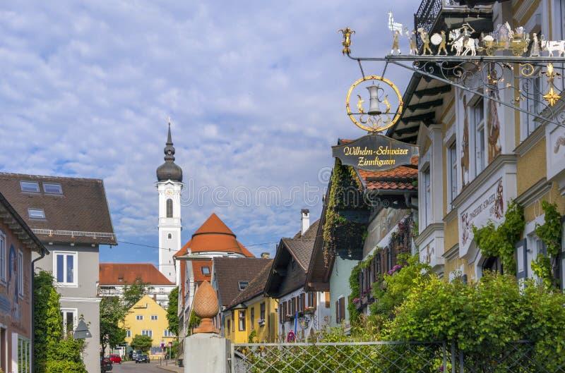 Diessen auf Ammersee See, Bayern stockfotografie