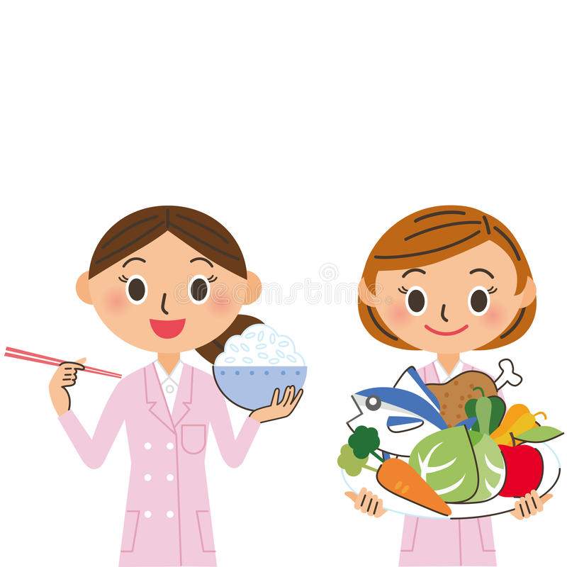 Dietético de la mujer libre illustration