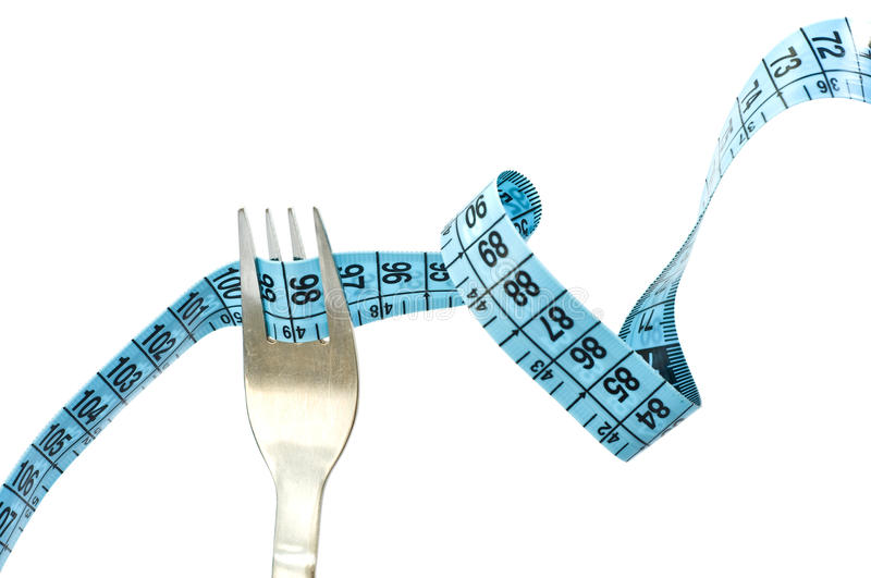 Diet. Concept idea with fork for diet stock images