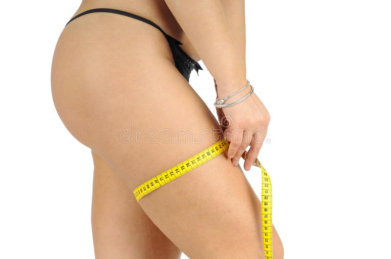 Download Diet stock photo. Image of obese, curves, measuring, female - 28659674