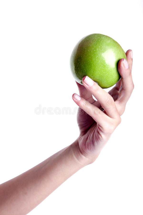 Diet With An Apple royalty free stock photography