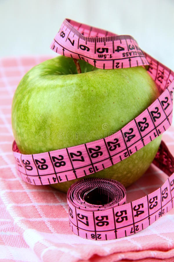 Download Diet Concept  Apple With Measuring Tape Stock Image - Image: 17665899