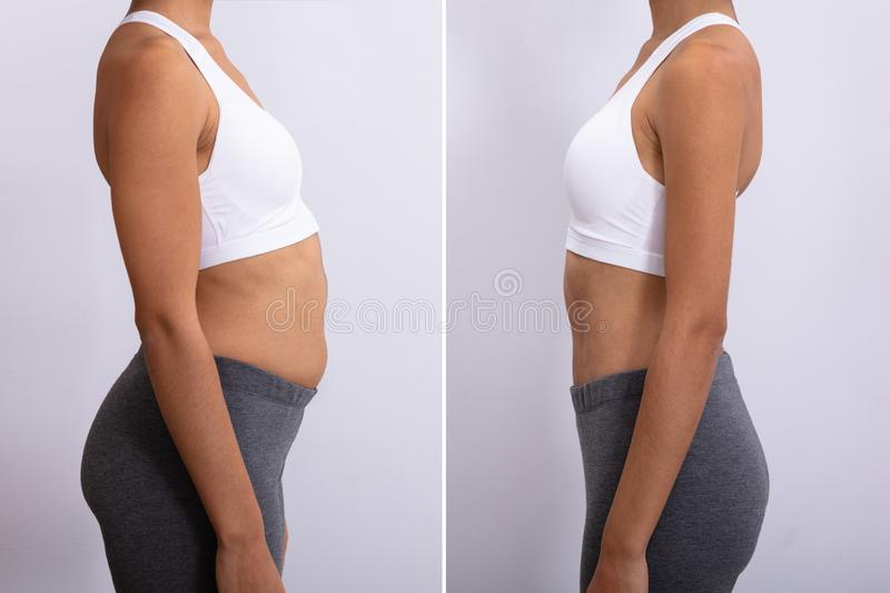 Before And After Diet Concept stock images