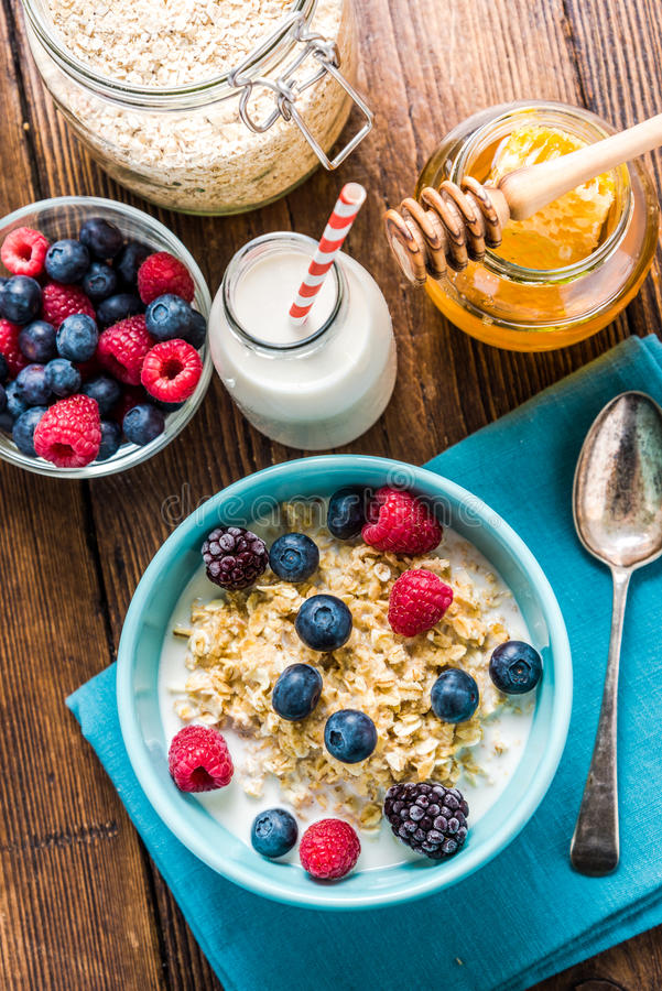Diet concept, light breakfast with summer fruits royalty free stock photo