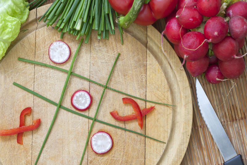 Download Diet concept tic tac toe stock photo. Image of cucumber - 27314650