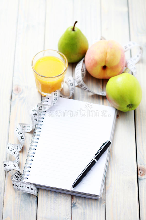 Diet diary royalty free stock photos