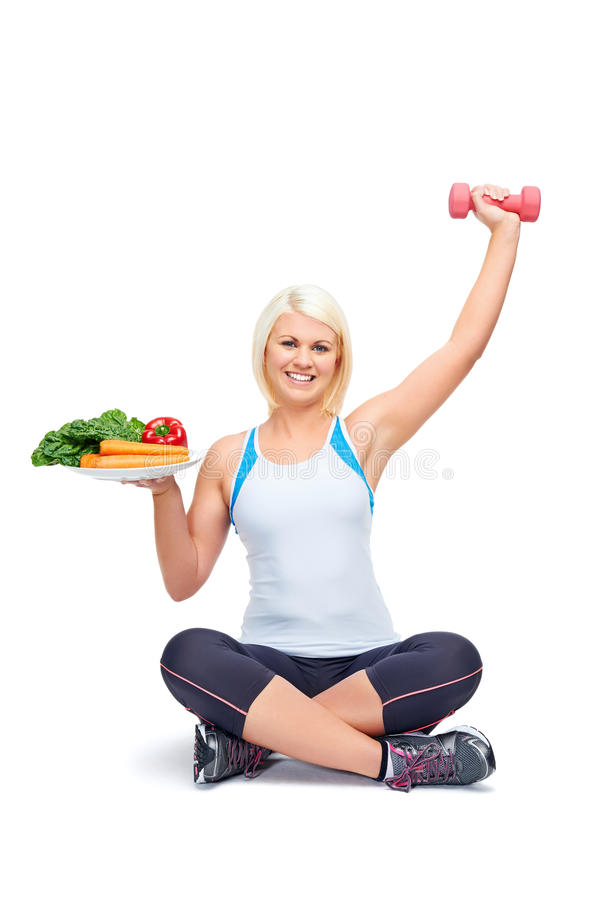Diet and exercise stock image. Image of eating, loss ...