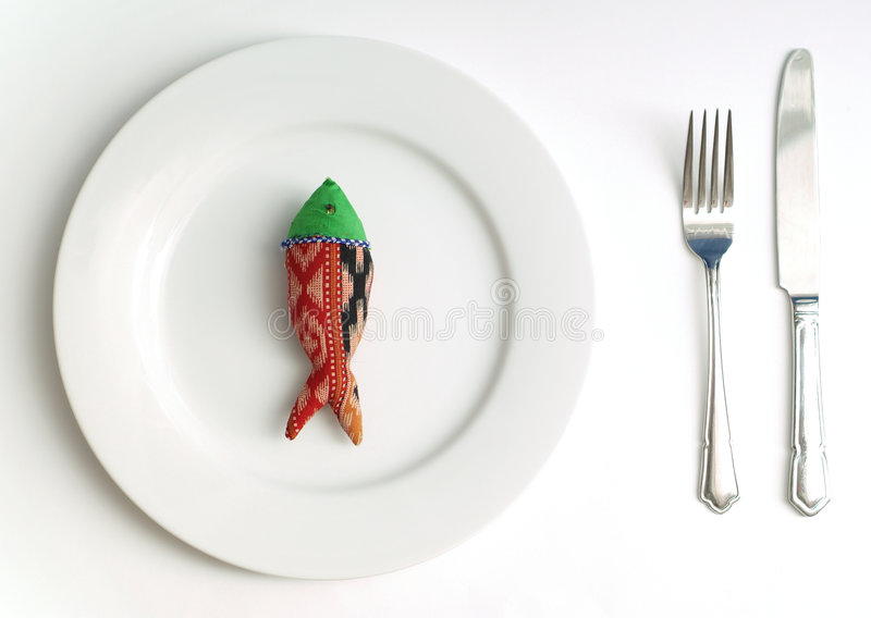 Diet fish for dinner royalty free stock photography