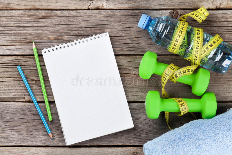 Diet and fitness concept stock image