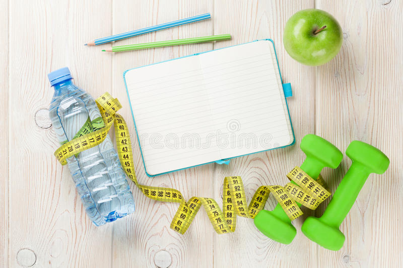 Diet and fitness concept royalty free stock images