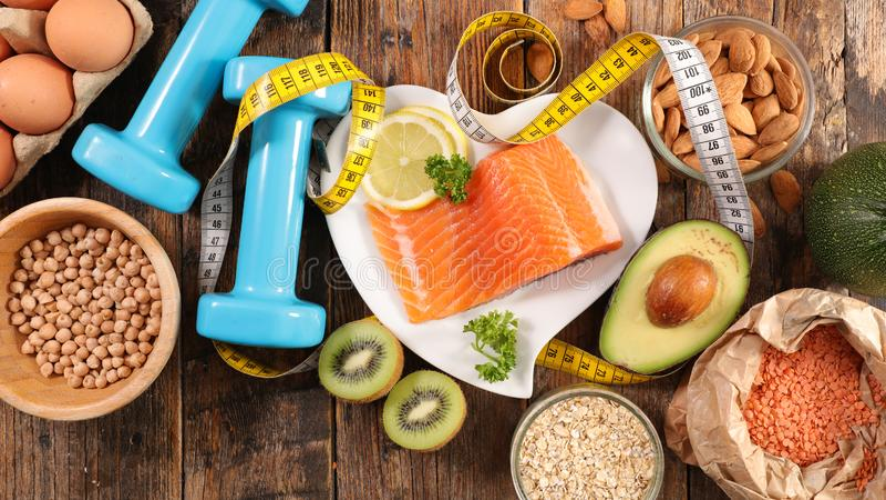 Diet food concept stock photos