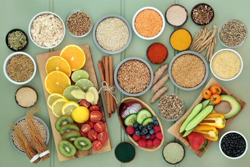 Diet Food for Liver Detox stock photos