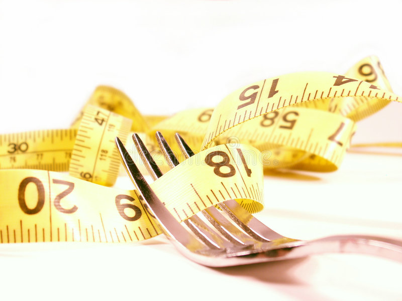 Diet on a fork 2 royalty free stock photo