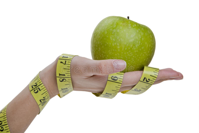 Diet Hand Concept stock images