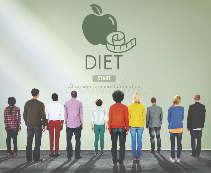 Diet Health Eating Nutrition Measure Concept stock photo