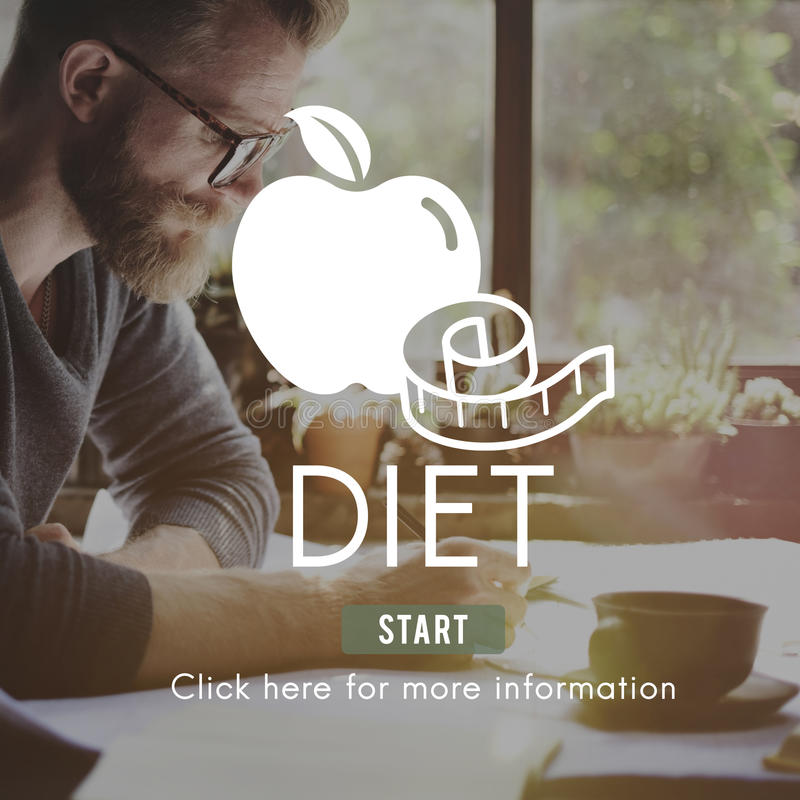 Diet Health Eating Nutrition Measure Concept. Diet Health Eating Nutrition Concept stock photos