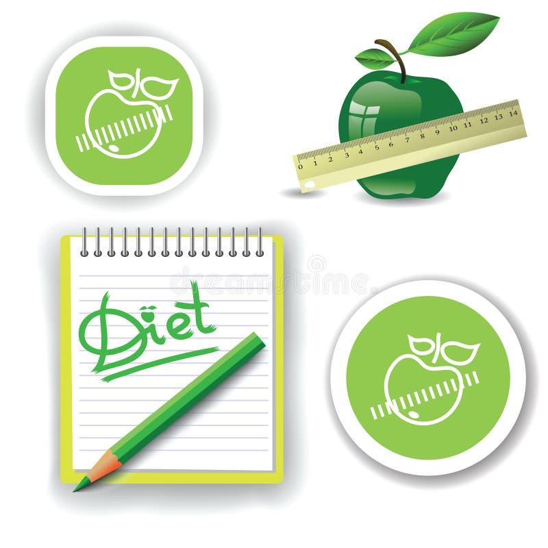 Download Diet icons stock vector. Image of fiber, closeup, food - 35528502