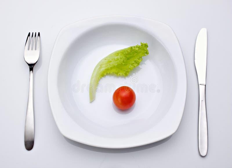 Diet idea, salad and tomato