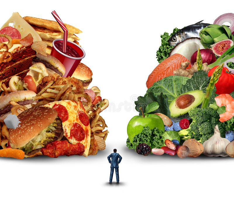 Diet Lifestyle Choice stock illustration