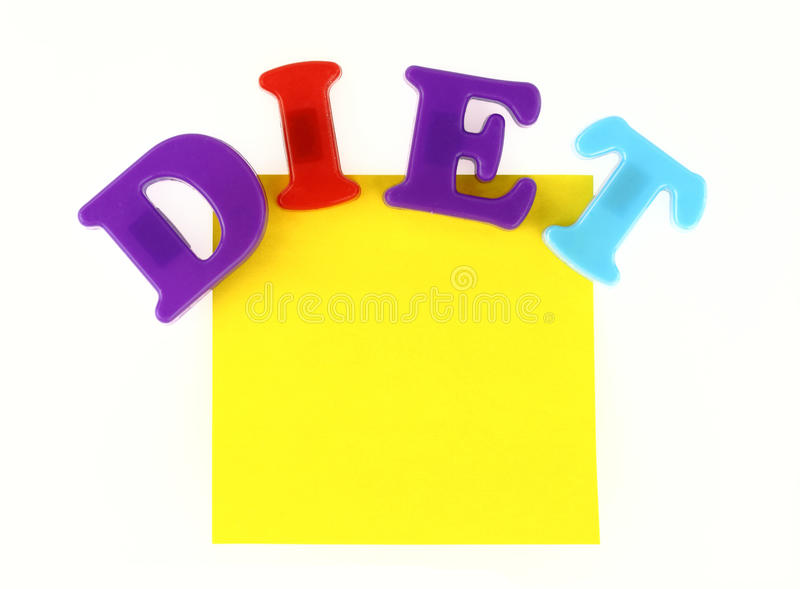 Diet Note Royalty Free Stock Images