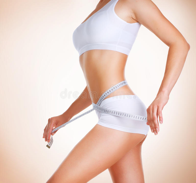 Diet. Perfect Slim Body royalty free stock photo