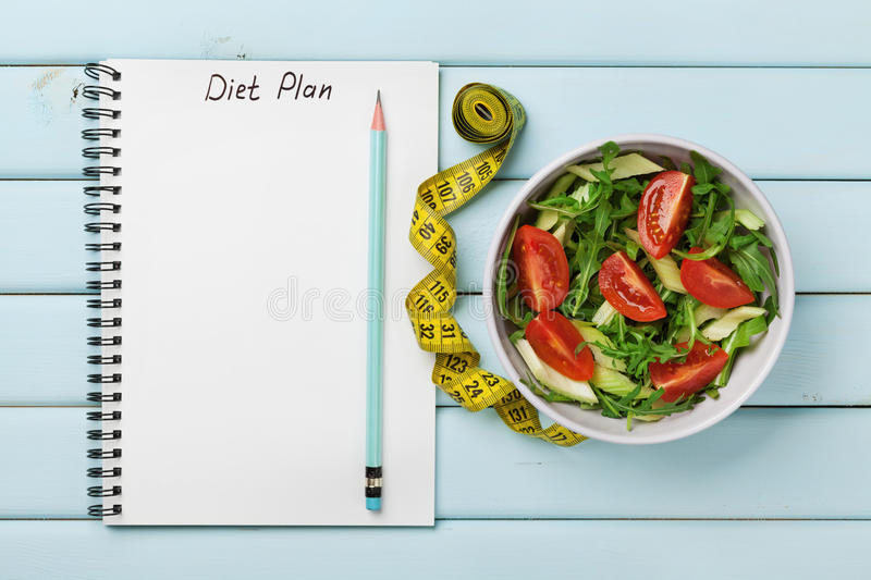 Diet Plan, Menu Or Program, Tape Measure, Water And Diet ...