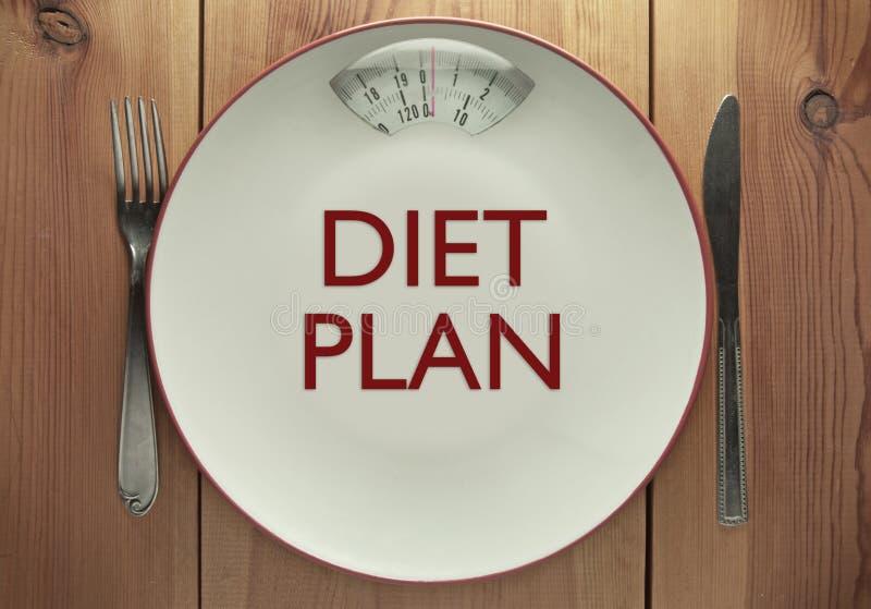 Diet plan royalty free stock photos