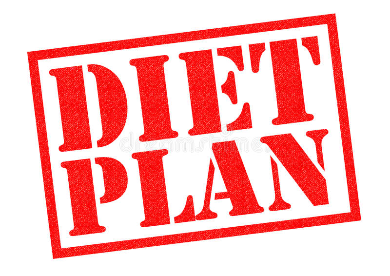 DIET PLAN royalty free illustration