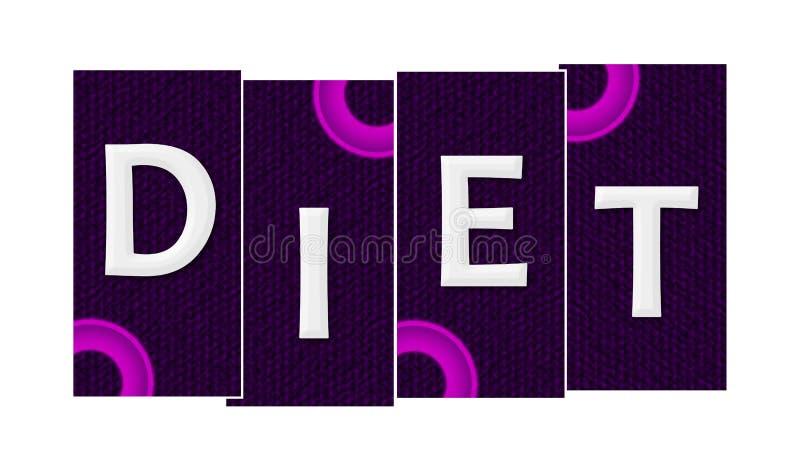Diet purpur pierścionków Różowi lampasy ilustracji