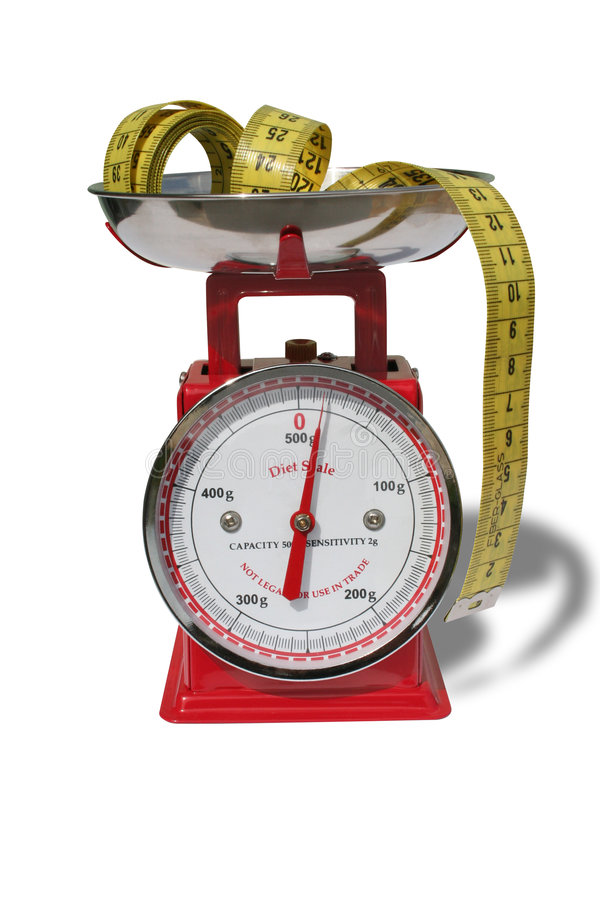 Diet scale royalty free stock image
