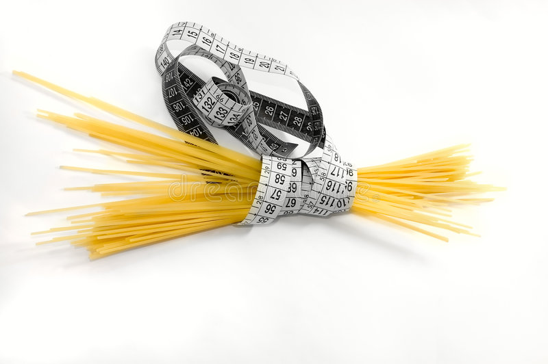Download Diet by Spaghetti stock image. Image of centimeter, isolated - 5857077