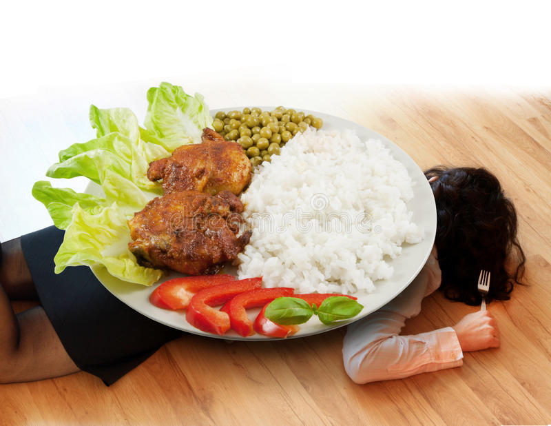 Diet too heavy concept royalty free stock photo