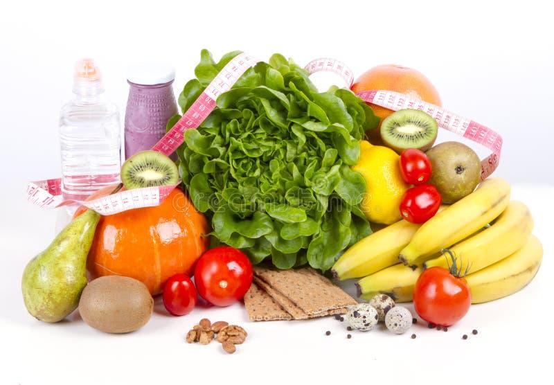 Diet väger förlustfrukostbegrepp arkivfoton
