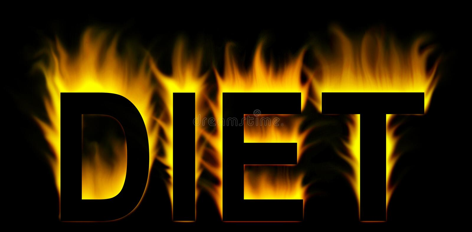Download Diet Word In Fire Stock Photo - Image: 8271740