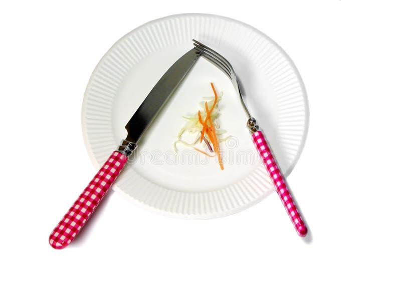Download Dieta imagem de stock. Imagem de placa, objeto, faca, salad - 113707