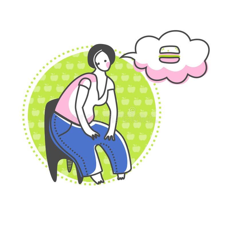 Dieta ilustração royalty free