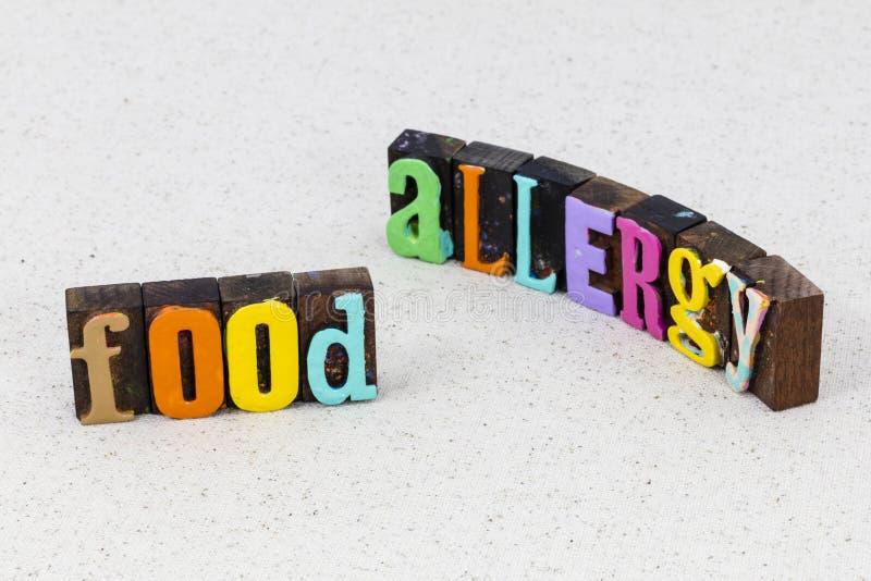 Dieta alergiczna pokarm Reakcja alergiczna w opiece zdrowotnej pszenica zdjęcie royalty free
