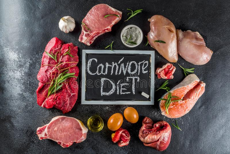 Dieta białkowa Carnivore obrazy stock