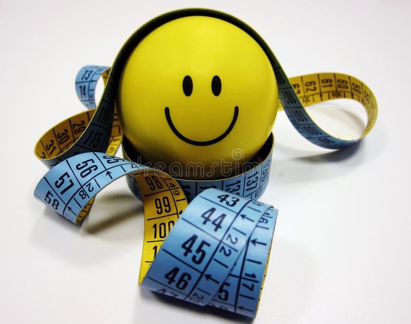 Dieta com sorriso fotos de stock royalty free