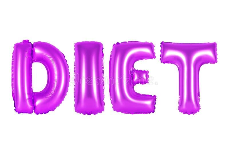 Dieta, cor roxa fotografia de stock