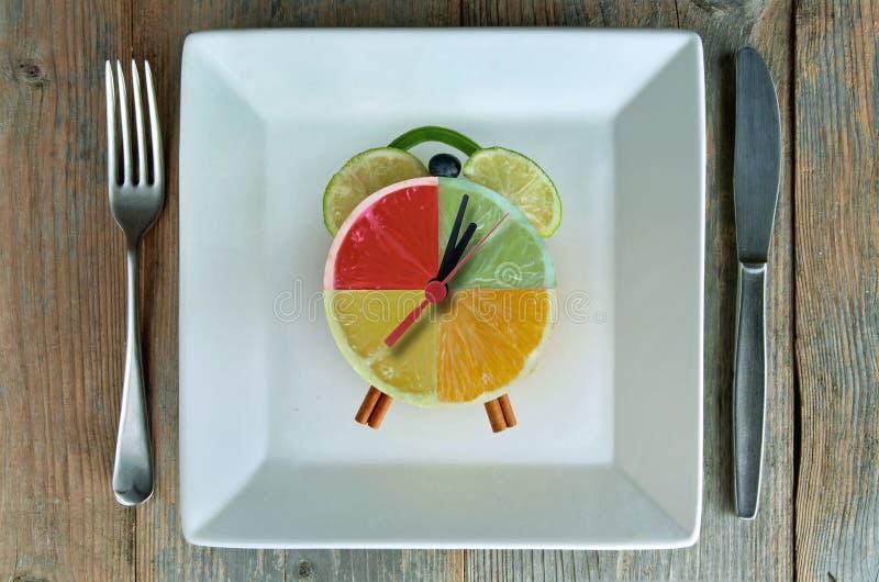 Dieta czasu zegar zdjęcia royalty free