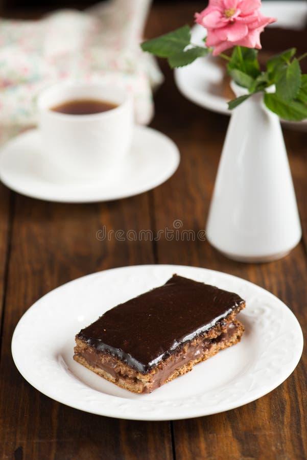 Dieta czekoladowy tort obrazy royalty free