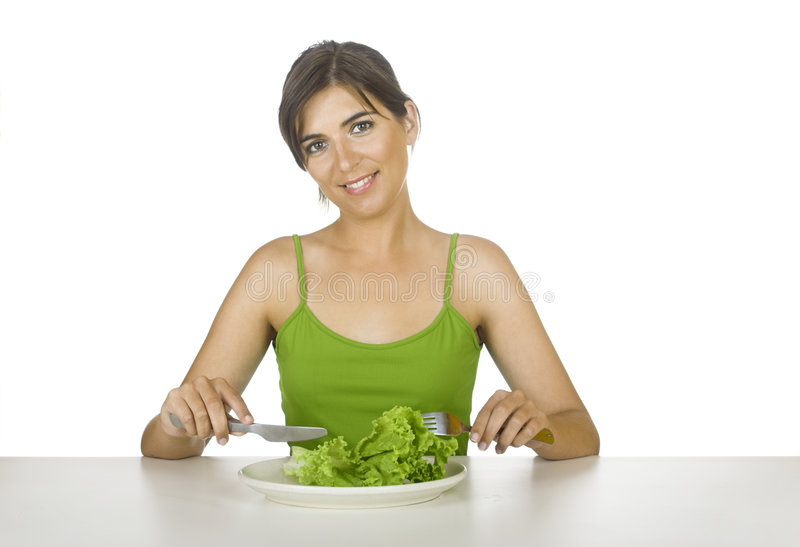 Dieta da alface fotografia de stock royalty free