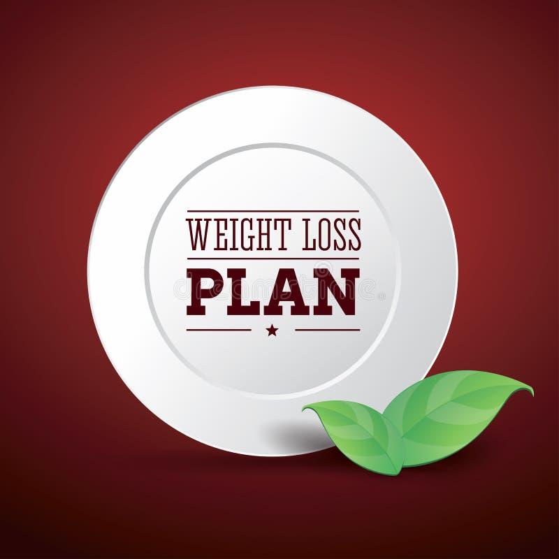 Dieta da planta da perda de peso ilustração royalty free