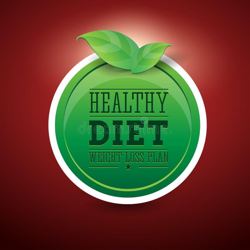 Dieta da planta da perda de peso ilustração do vetor